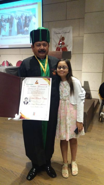 Recibe Doctorado Honoria Causa el Dr. Luis Enrique Mendoza Barrientos